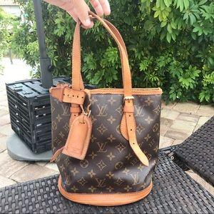 LV Bucket Bag💗Authentic Louis Vuitton HandBag😍PM